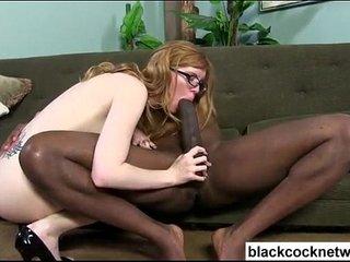 Mandingo trains white chick with glasses