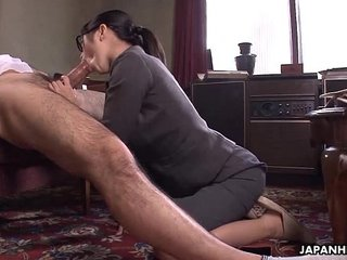 Office Lady Kana getting her wet pussy creampied