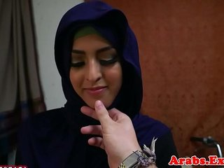 Arabic hijab amateur doggystyled after bj