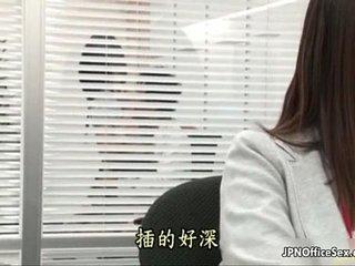 Cute Japanese office girls love having