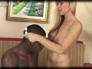 Busty blonde MILF Nicole Moore makes cuckold husband watch