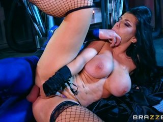 Smoking hot brunette does anal in funny parody Power Bangers